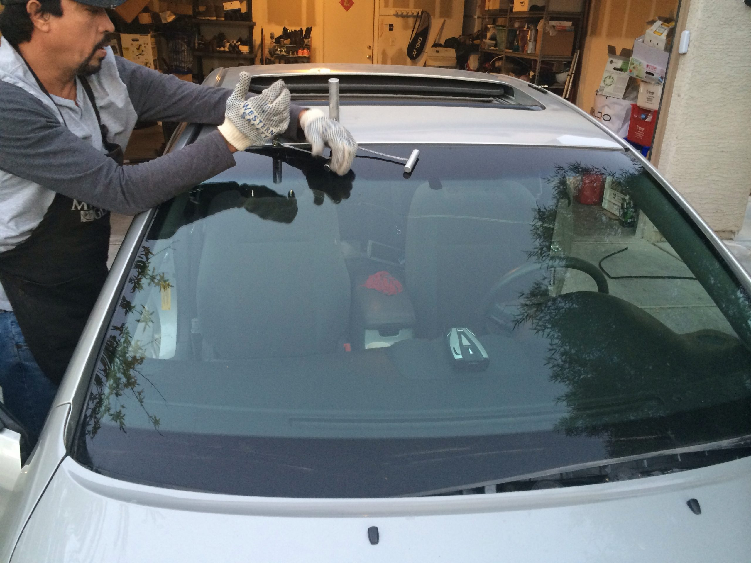 Rear Car Windshield Glass Replacement