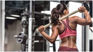 body building in gym